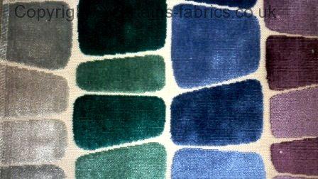 Taman By Voyage Decoration In Indigo Curtain Fabric